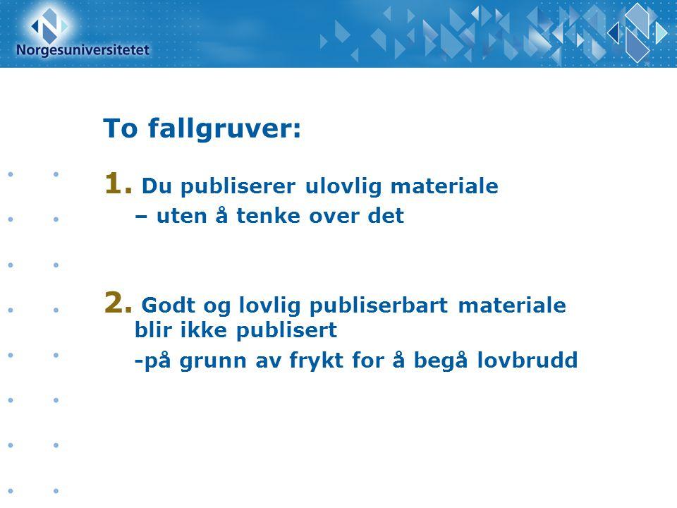 Løsningene: 1.Kjenn til lov- og regelverk 2. Bruk materiale som er merket for gjenbruk 3.