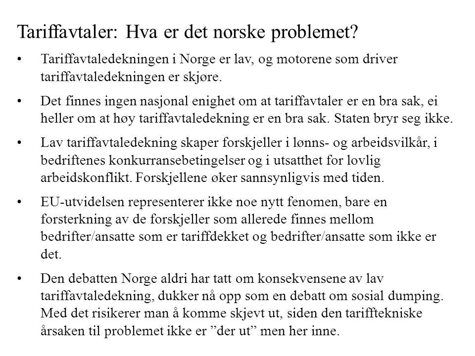Tariffavtaler: Hva er det norske problemet.