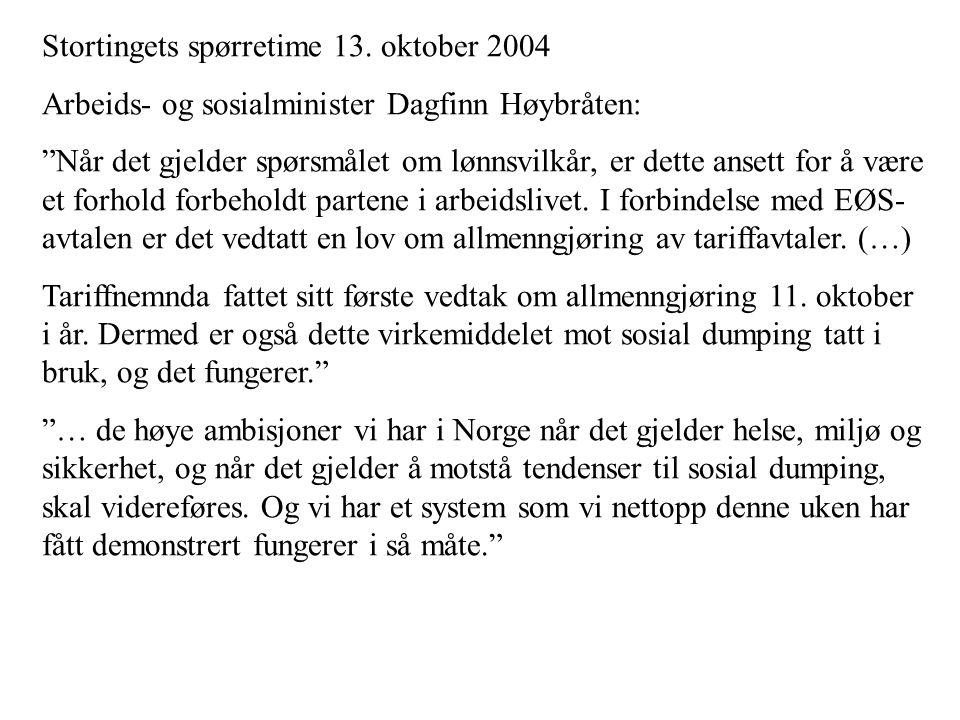 Stortingets spørretime 13.