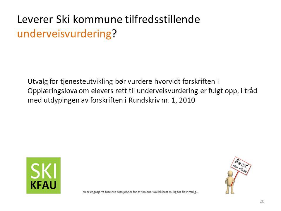 Leverer Ski kommune tilfredsstillende underveisvurdering.