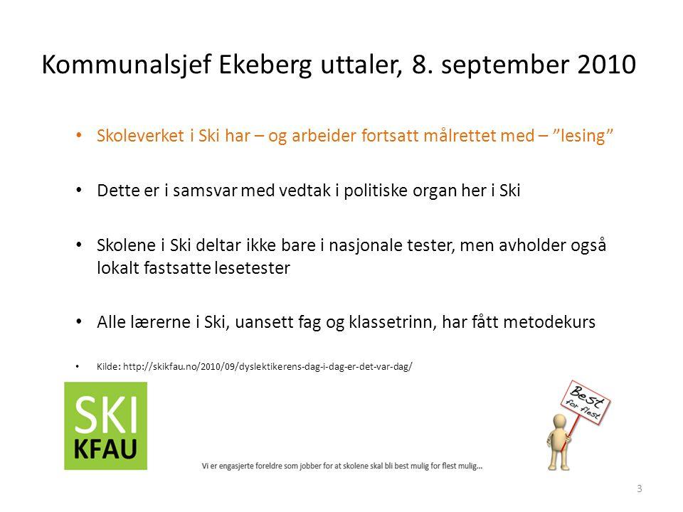 Kommunalsjef Ekeberg uttaler, 8.