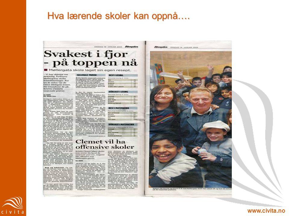 www.civita.no Hva lærende skoler kan oppnå….