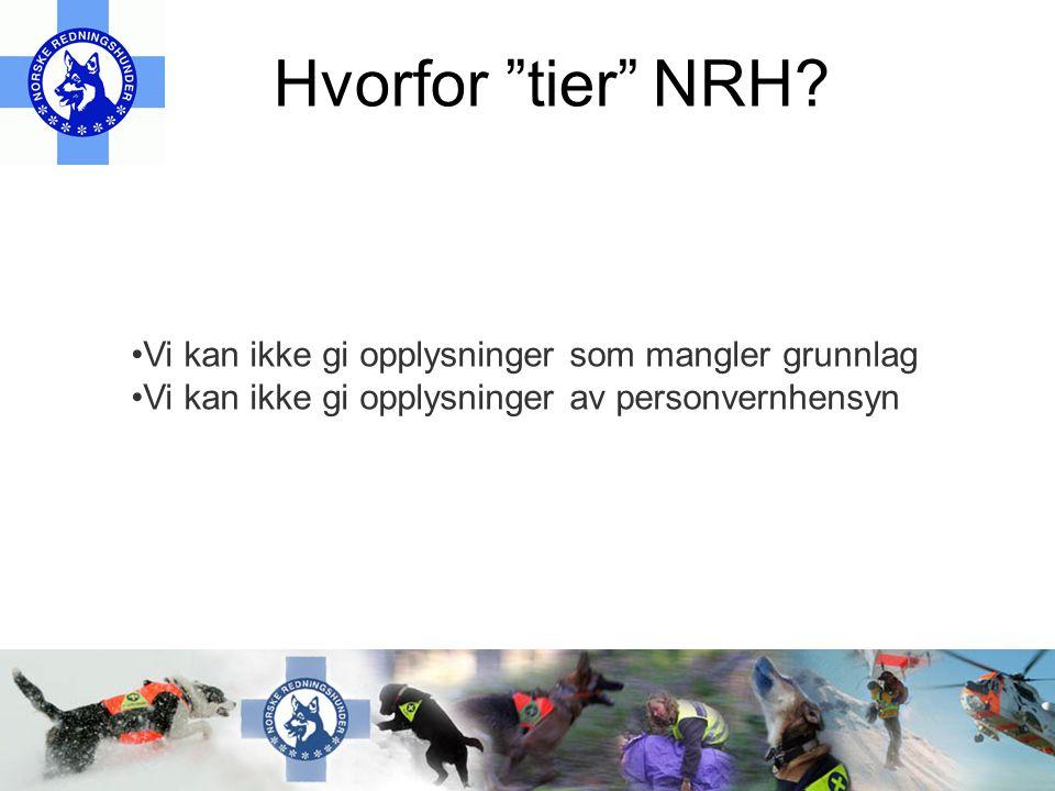 Hvorfor tier NRH.