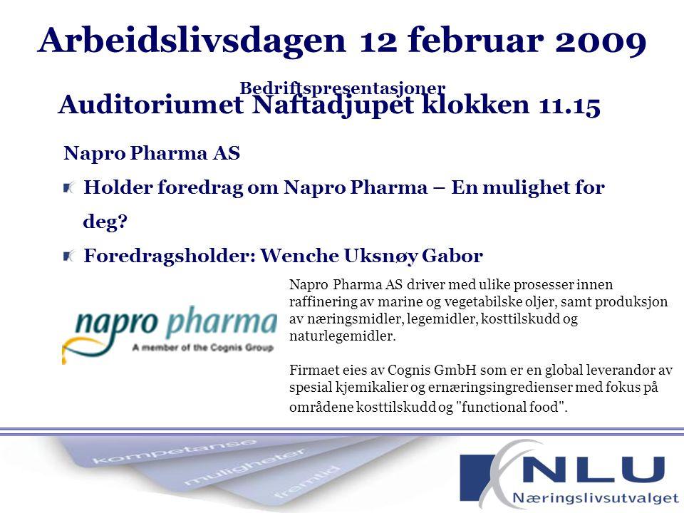 Napro Pharma AS Holder foredrag om Napro Pharma – En mulighet for deg.