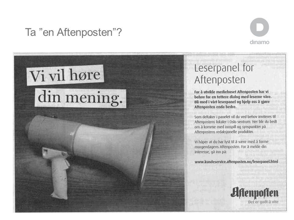 """Ta """"en Aftenposten""""?"""