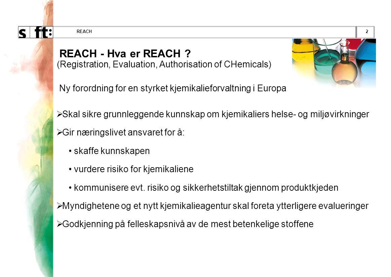 2REACH REACH - Hva er REACH .