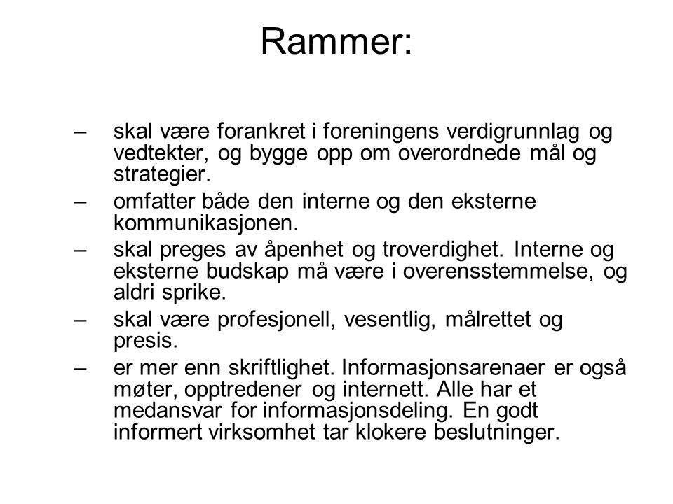 Formål: –skal bidra til å styrke Psykologforeningens posisjon og omdømme som seriøs fagforening og aktør i norsk samfunnsliv.