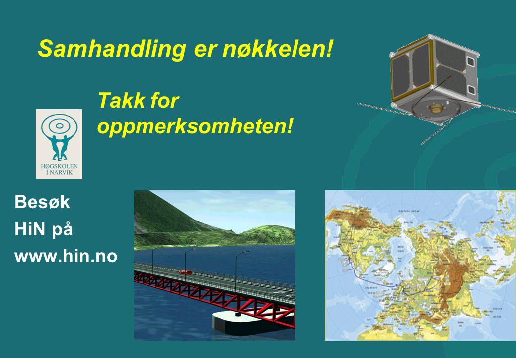 Samhandling er nøkkelen! Takk for oppmerksomheten! Besøk HiN på www.hin.no