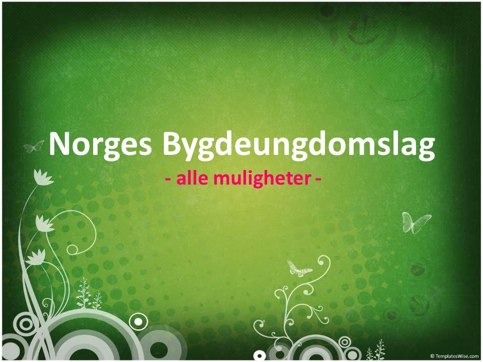 Norges Bygdeungdomslag - alle muligheter -