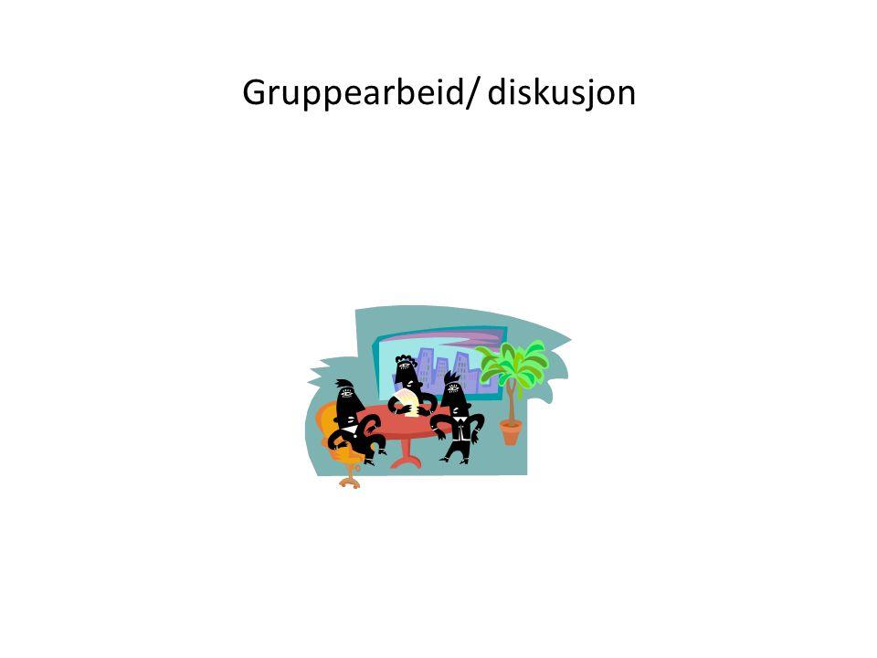Gruppearbeid/ diskusjon