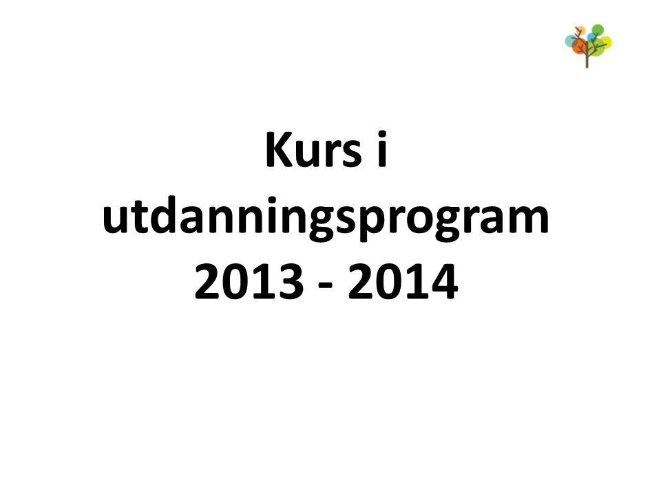 Kurs i utdanningsprogram 2013 - 2014