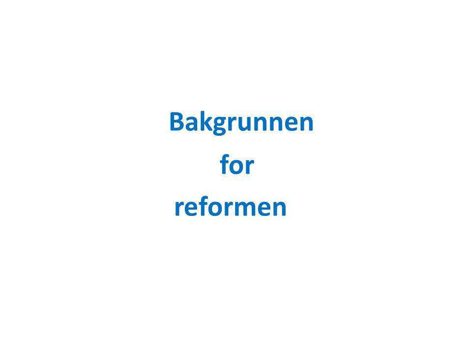 Bakgrunnen for reformen