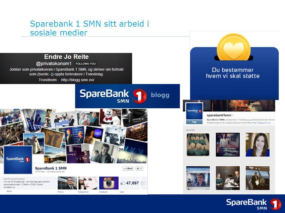 Sparebank 1 SMN sitt arbeid i sosiale medier