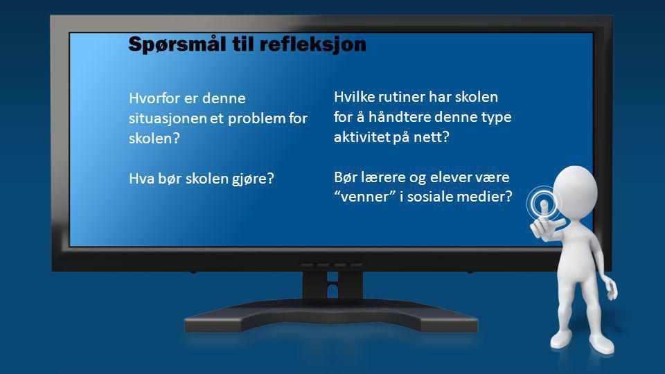 Case Digital mobbing Jens og Ola har fått tak i Henriks brukernavn og passord til læringsplattformen.