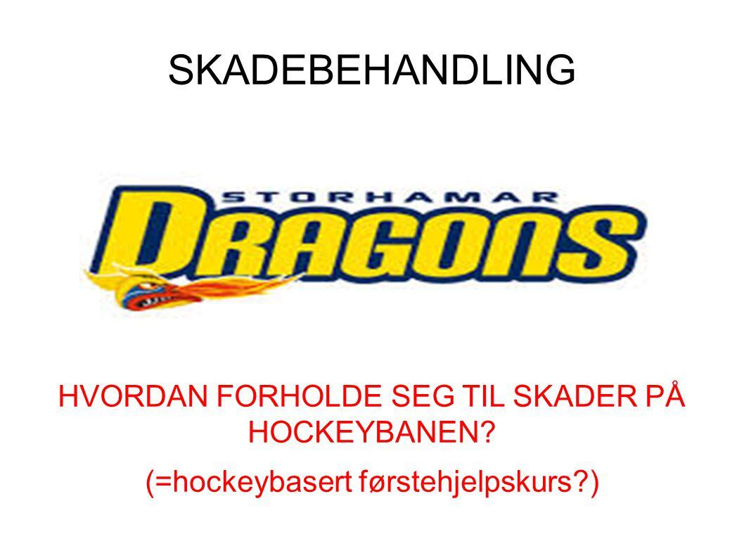 SKADEBEHANDLING HVORDAN FORHOLDE SEG TIL SKADER PÅ HOCKEYBANEN? (=hockeybasert førstehjelpskurs?)