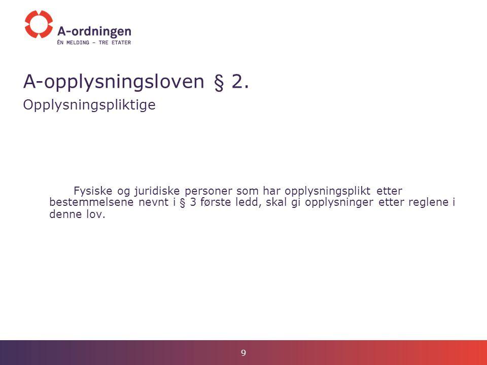 A-opplysningsloven § 3.