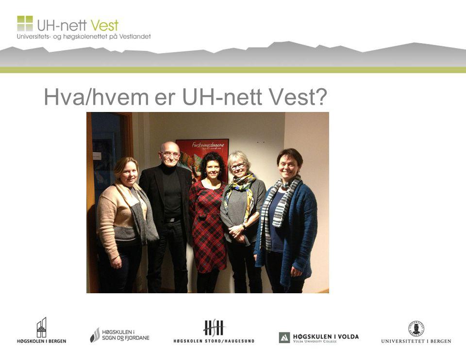 Hva/hvem er UH-nett Vest