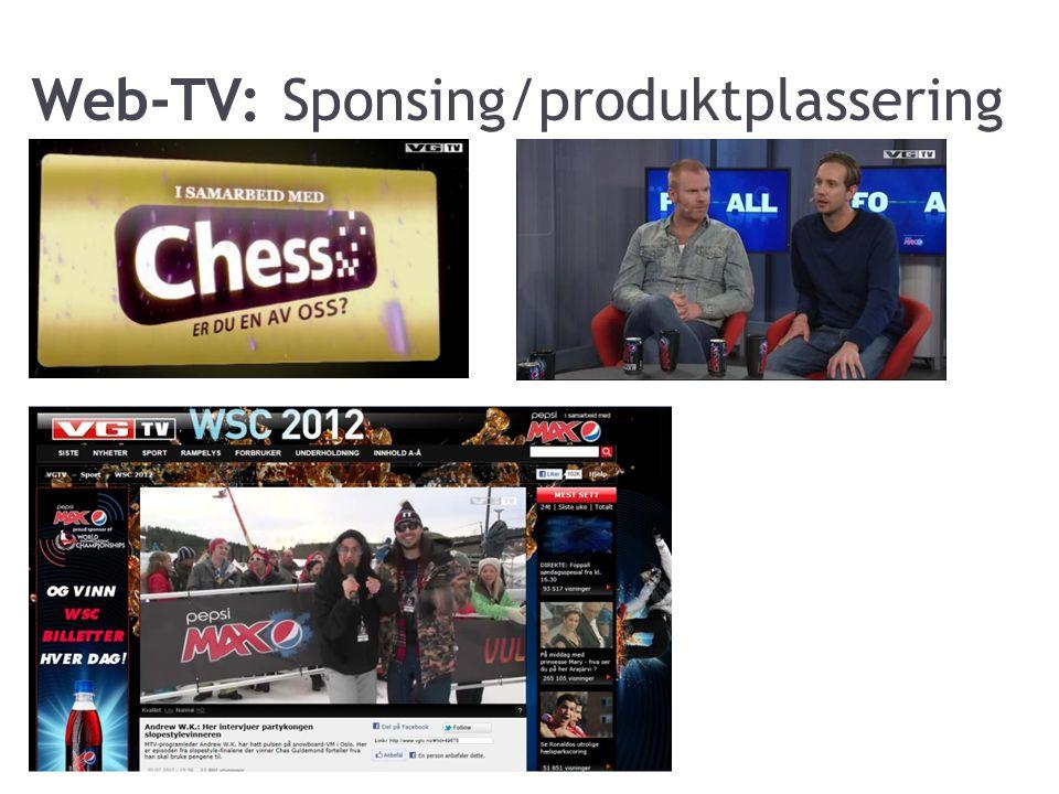 Web-TV: Sponsing/produktplassering