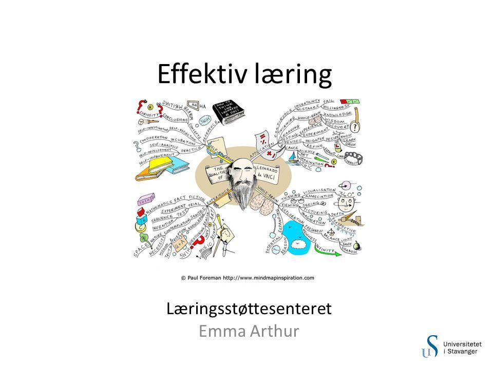 Effektiv læring Læringsstøttesenteret Emma Arthur