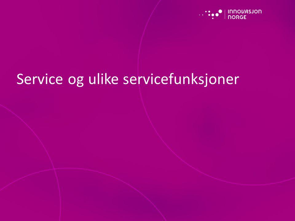 Service og ulike servicefunksjoner