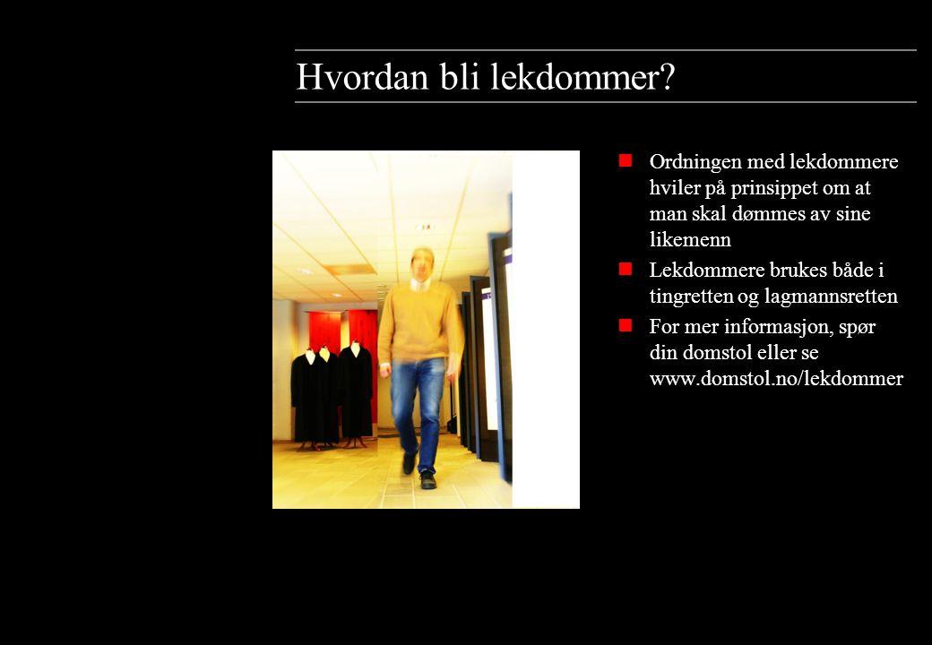 Rettens sammensetning Disse sidene gir en oversikt over rettsinstanser, sakstyper og aktører i det norske rettssystemet.