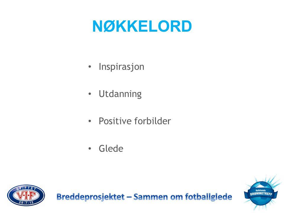 NØKKELORD • Inspirasjon • Utdanning • Positive forbilder • Glede