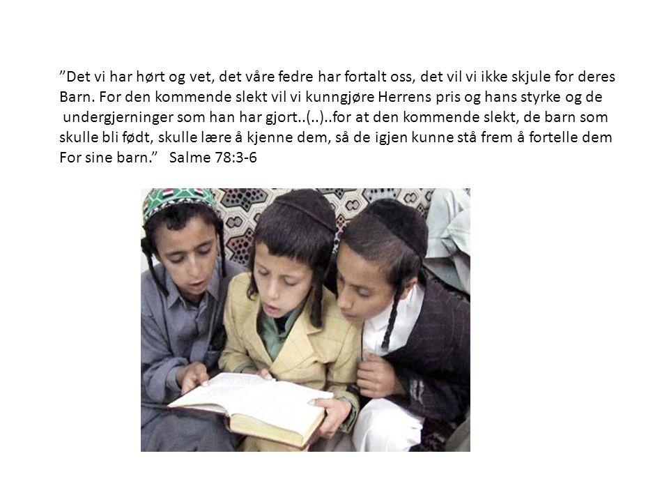 """""""Det vi har hørt og vet, det våre fedre har fortalt oss, det vil vi ikke skjule for deres Barn. For den kommende slekt vil vi kunngjøre Herrens pris o"""
