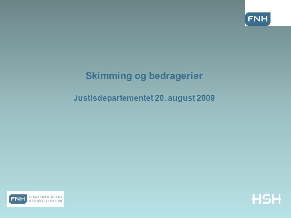 Skimming og bedragerier Justisdepartementet 20. august 2009