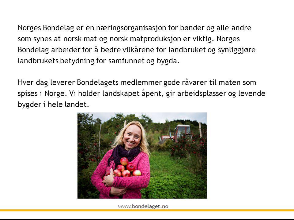 Norges Bondelag er en næringsorganisasjon for bønder og alle andre som synes at norsk mat og norsk matproduksjon er viktig. Norges Bondelag arbeider f