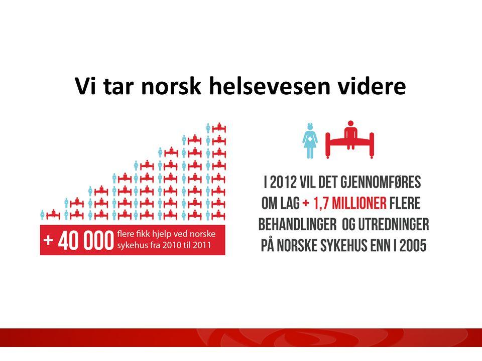Vi tar norsk helsevesen videre