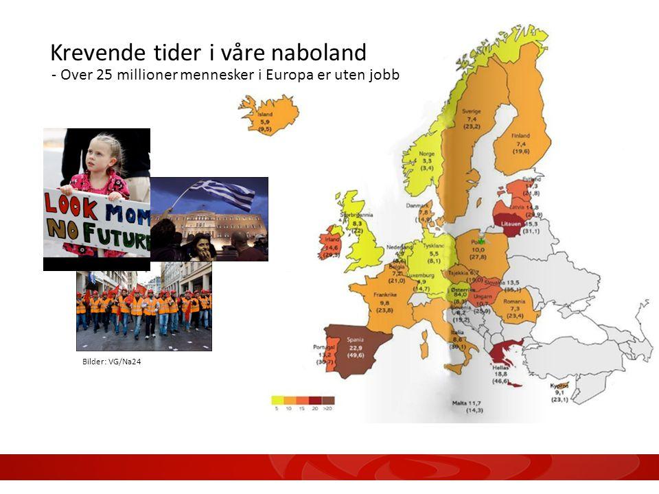Bilder: VG/Na24 Krevende tider i våre naboland - Over 25 millioner mennesker i Europa er uten jobb