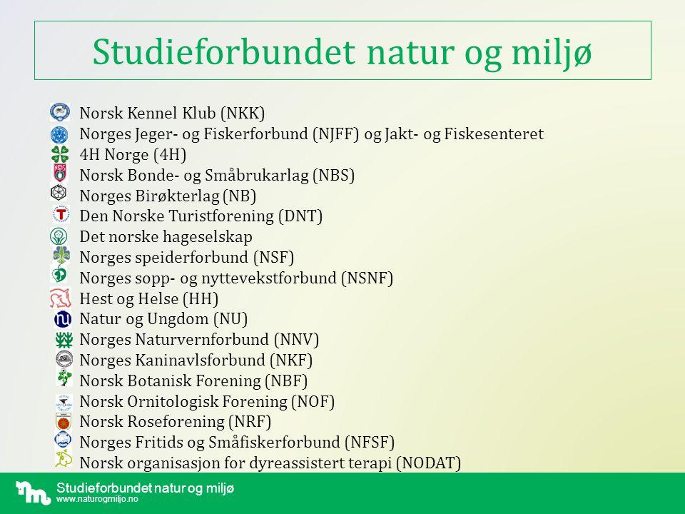 Studieforbundet natur og miljø www.naturogmiljo.no Hva er Studieforbundet.