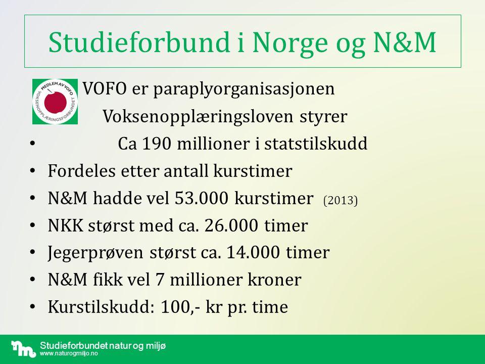 Studieforbundet natur og miljø www.naturogmiljo.no Lover /regler for studievirksomheten • 1.