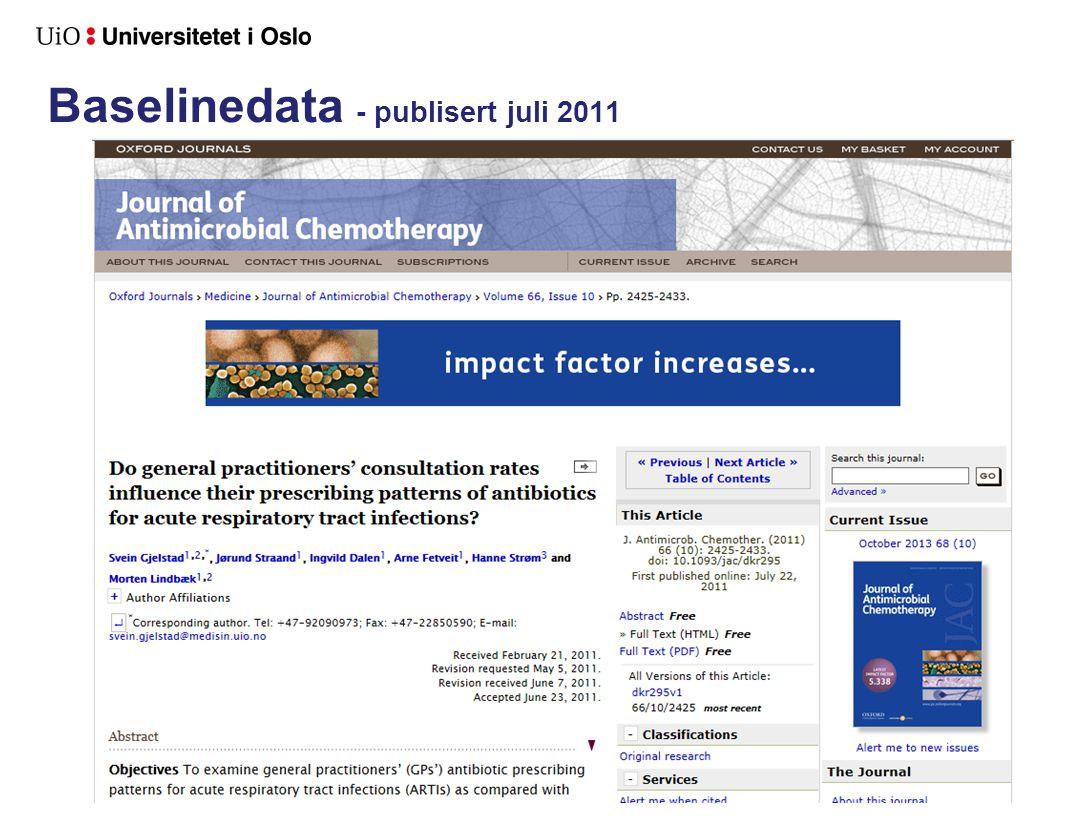 Baselinedata - publisert juli 2011