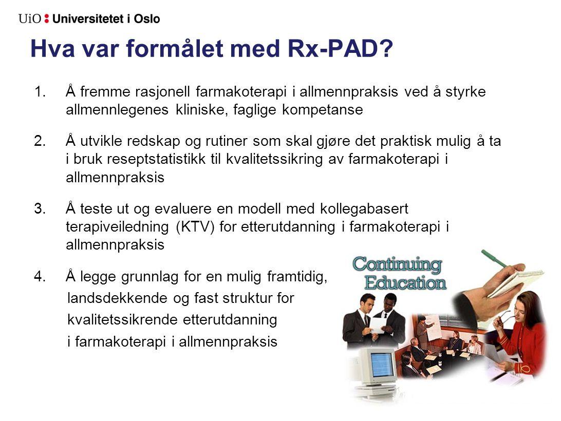 Data fra de 79 gruppene som fullførte Rx-PAD studien.