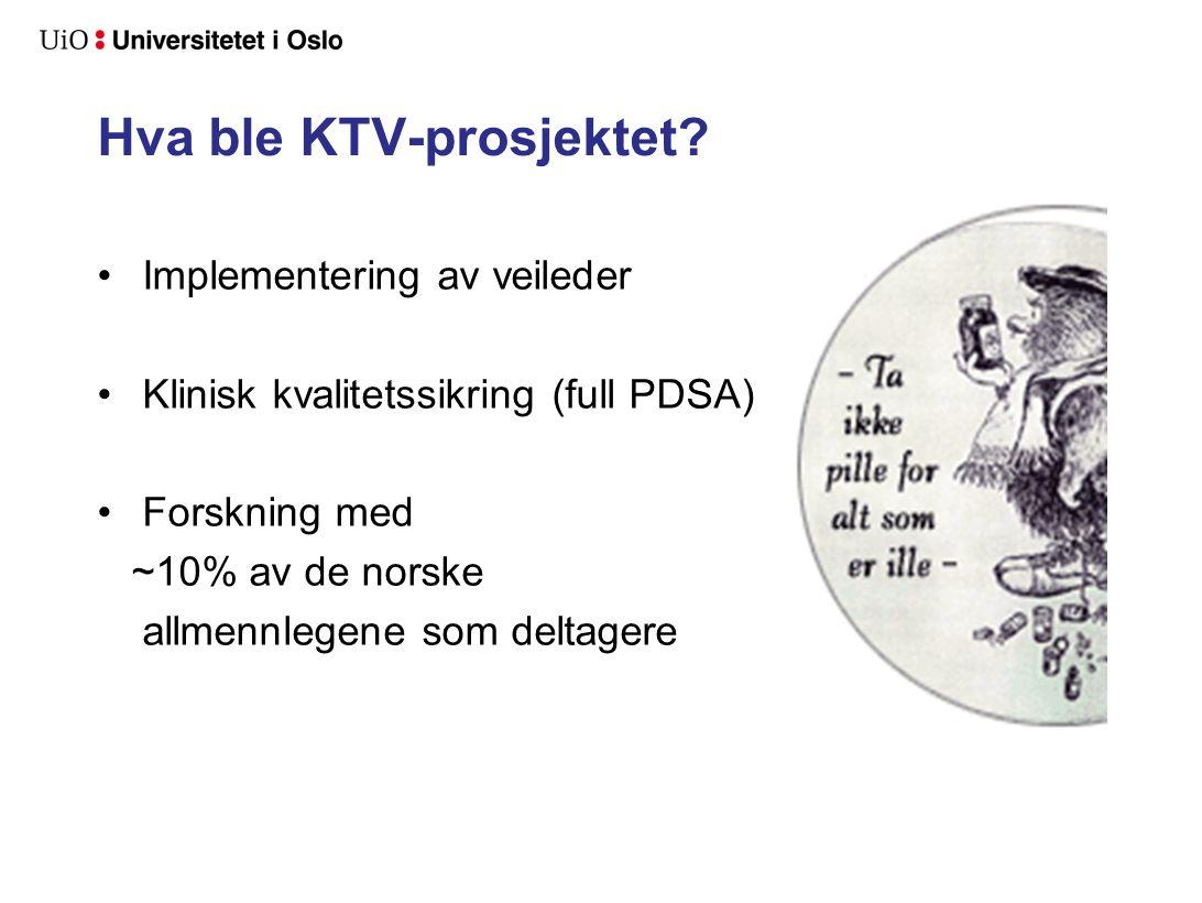 Hva ble KTV-prosjektet.
