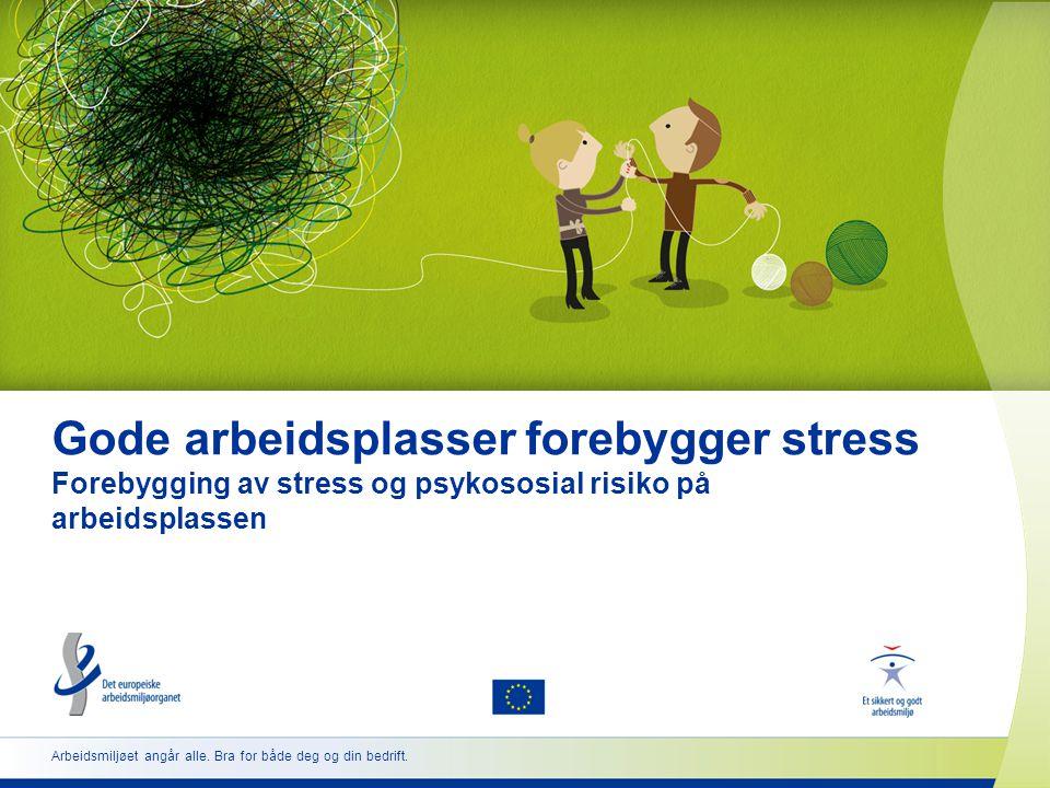 2 www.healthy-workplaces.eu Innledning til kampanjen  Koordineres av Det europeiske arbeidsmiljøorganet (EU-OSHA)  Arrangeres i over 30 land  Støttes av et nettverk av partnere •Nasjonale kontaktpunkter •Partene i arbeidslivet •Offisielle kampanjepartnere •Mediepartnere •Enterprise Europe Network •EU-institusjoner