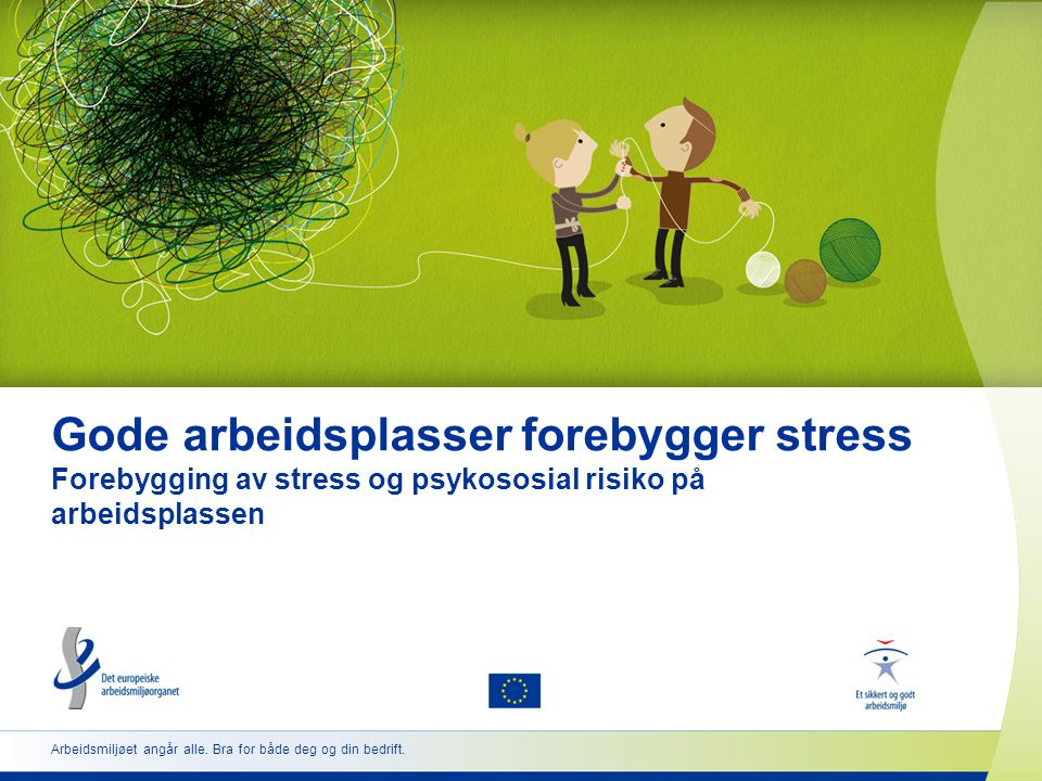12 www.healthy-workplaces.eu Hvordan forebygge stress og psykososiale risikoer  Selv med begrensede ressurser kan psykososiale risikoer vurderes og forebygges på en effektiv måte.