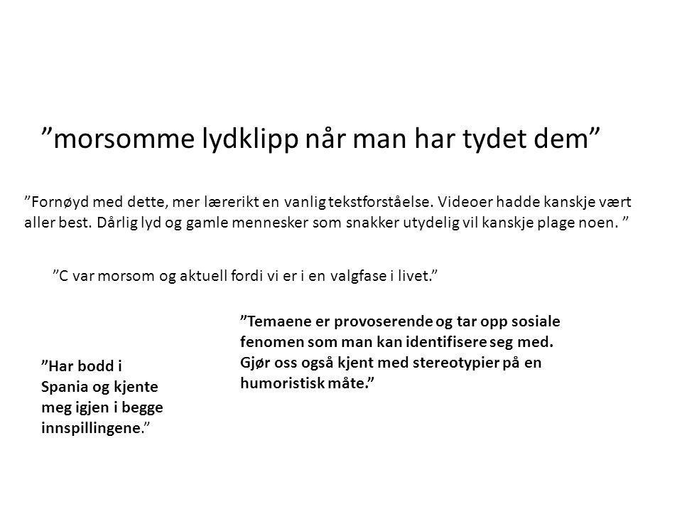 Økt aktivitet Økt relevans Konklusjoner mp3 og videobruk for SPA0502 2010 Bedre lydkvalitet Jørgen Yri – tlf 938 09 069 jorgen.yri@ntnu.no www.kosmikomiko.com Utvide (Amerika)