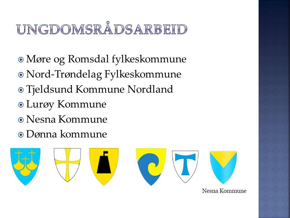  Møre og Romsdal fylkeskommune  Nord-Trøndelag Fylkeskommune  Tjeldsund Kommune Nordland  Lurøy Kommune  Nesna Kommune  Dønna kommune
