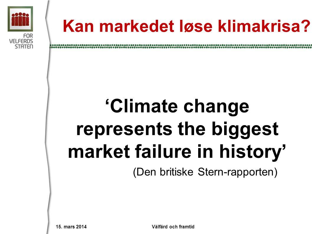 Kan markedet løse klimakrisa. 15.