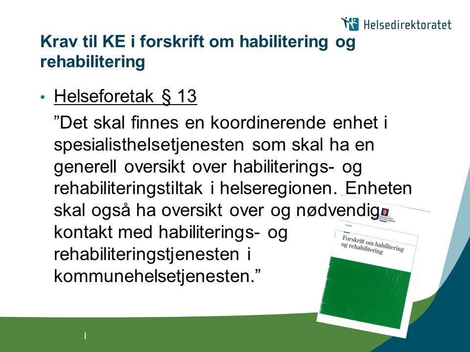 | Nasjonal strategi for habilitering og rehabilitering 2008 - 2011 • Rehabilitering har ikke den posisjon og prestisje i helse- og omsorgstjenesten som de overordnede helse- og velferdspolitiske målene tilsier.