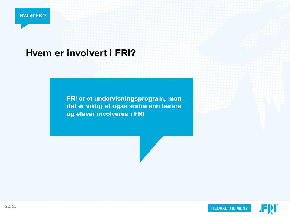 Hvem er involvert i FRI.