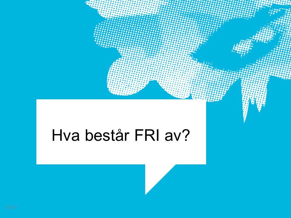 Hva består FRI av? 28/53
