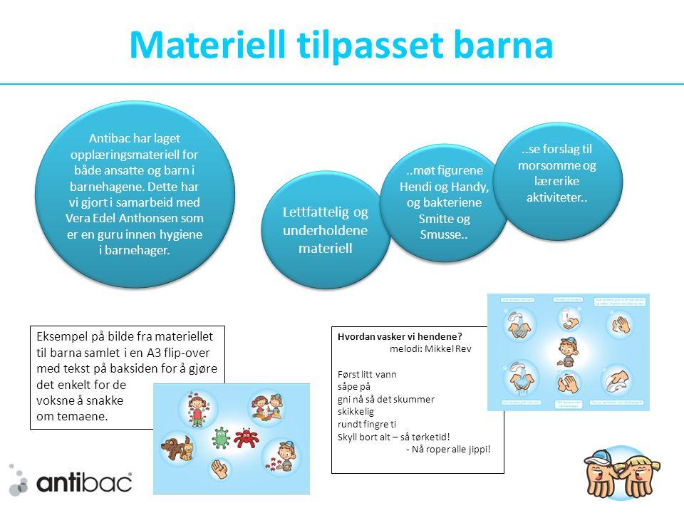 Materiell tilpasset barna Eksempel på bilde fra materiellet til barna samlet i en A3 flip-over med tekst på baksiden for å gjøre det enkelt for de voksne å snakke om temaene.