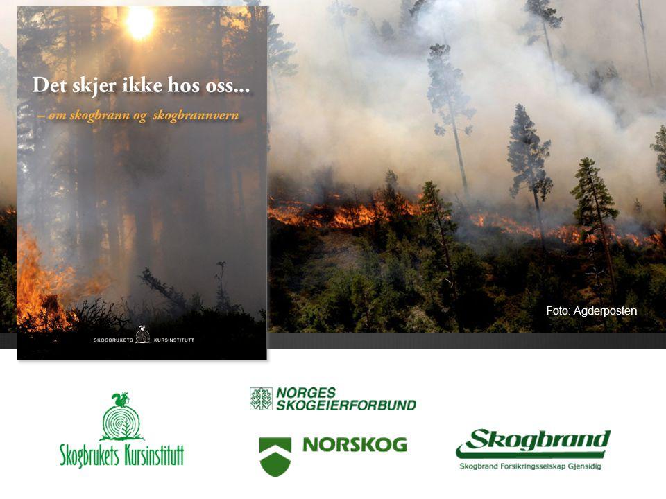 Om skogbrann og skogbrannvern Fra heftet «Det skjer ikke hos oss» Foto: Agderposten