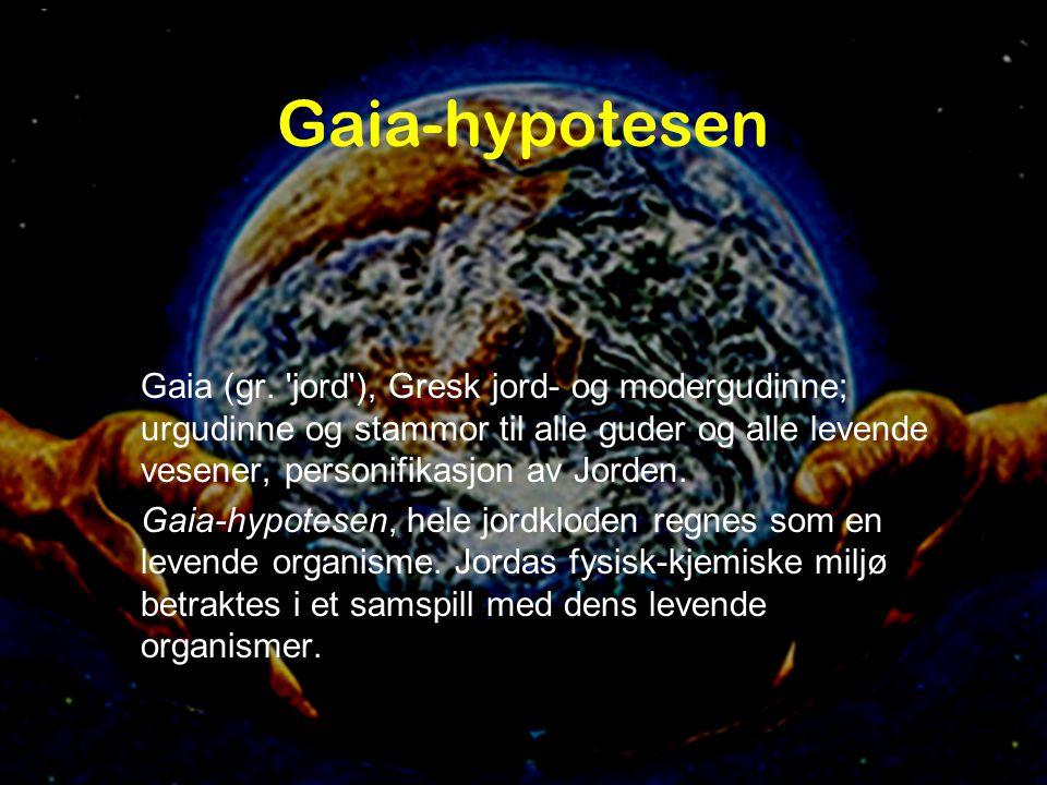 Lynn Margulis •1938- •Mikrobiolog •Funksjonell genetikk •Symbioseteorien •Gaiahypotesen Symbioseteorien