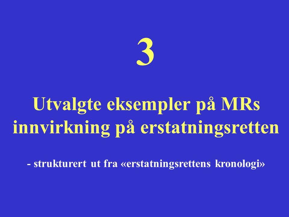 3 Utvalgte eksempler på MRs innvirkning på erstatningsretten - strukturert ut fra «erstatningsrettens kronologi»