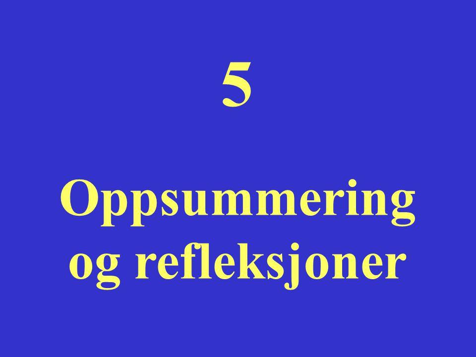5 Oppsummering og refleksjoner