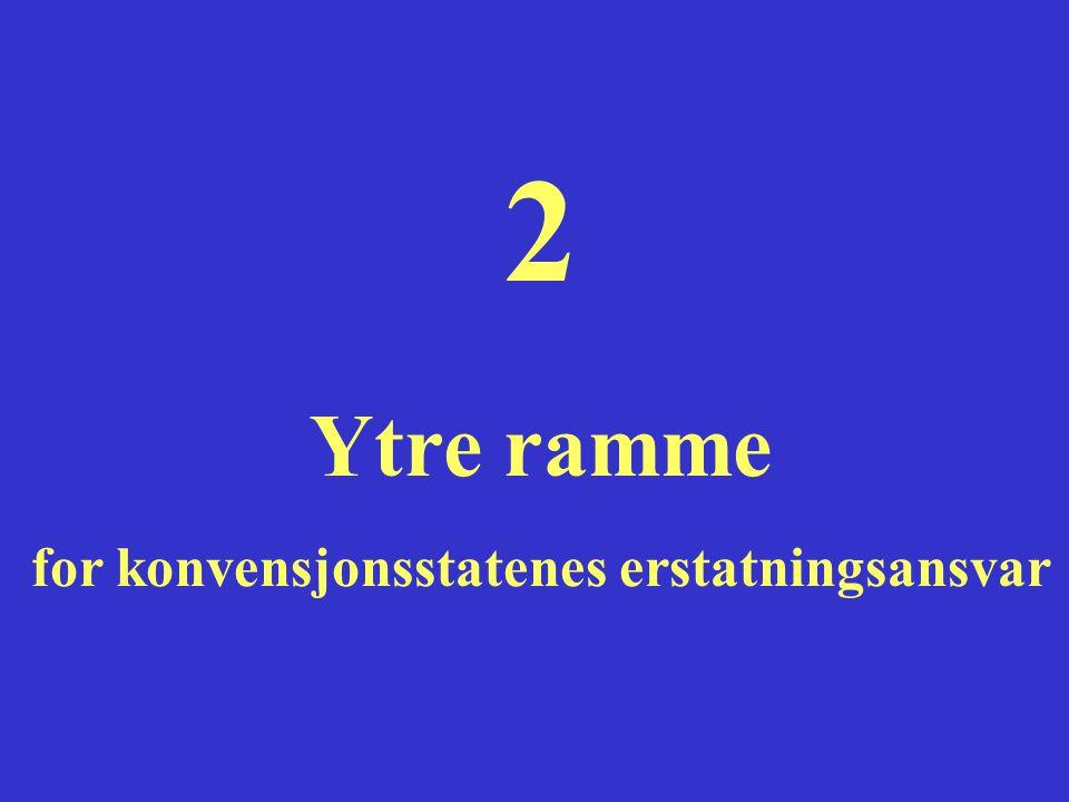 2 Ytre ramme for konvensjonsstatenes erstatningsansvar